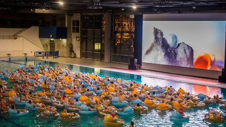 A film viewing with a difference at Clermont-Ferrand's short film festival. Pic: Baptiste Chanat