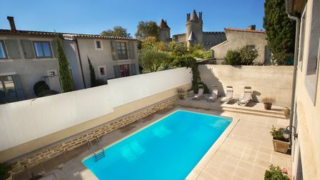 Enjoy a dip in the pool at the Hotel Aragon