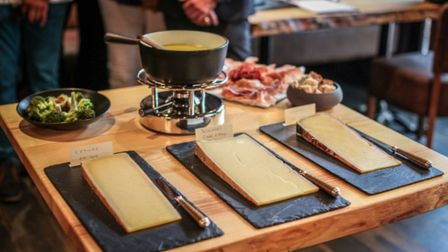 Diners can choose from a medley of the region''s best cheeses