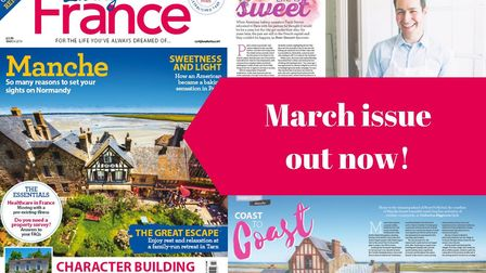The March 2019 issue of Living France magazine is on sale now