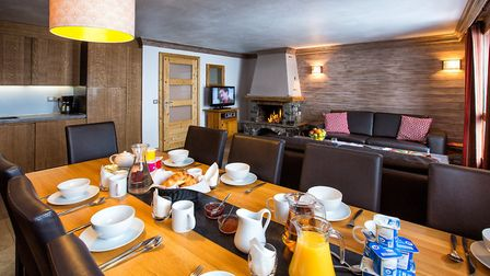 The interior of Chalet Caribou in Val Thorens