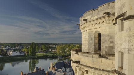 Chateau d'Amboise towers over the town and River Loire. Pic: L de Serres