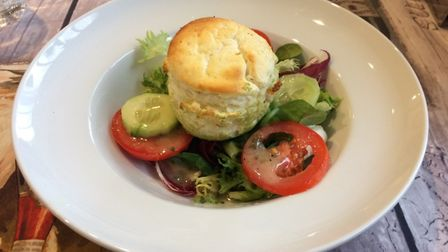 Chez Pascal in Ledbury, Herefordshire's excellent cheese souffle picture Lara Dunn