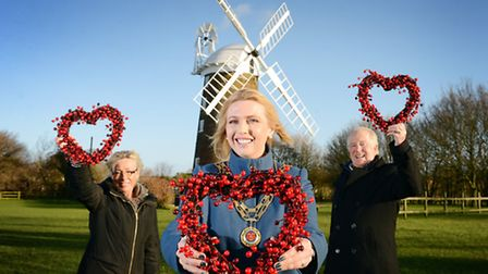 Dereham mayor Kate Millbank )centre) has chosen Dereham windmill as her charity for 2014. With her a