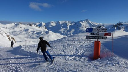 On the way to Aiguille Percee one of the best ski runs in Tignes le Lac - pic Adam Batterbee