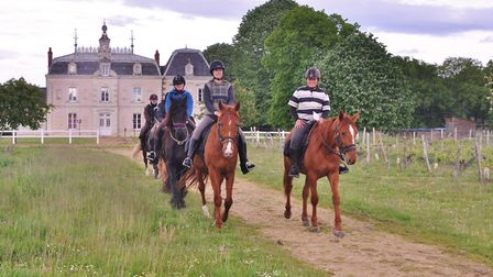 Explore the land of chateaux by horse with Touraine Cheval. Pic: Touraine Cheval