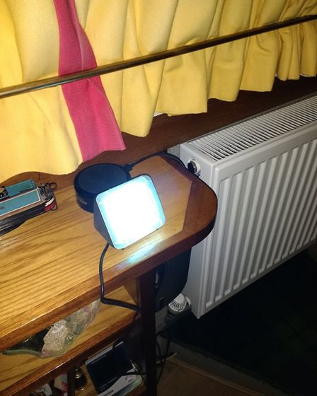Always someone at home with fake TV