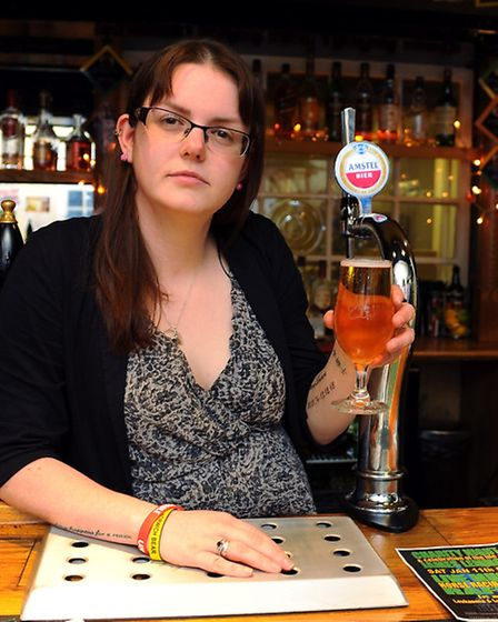 Amy Lemmon who is organising a Charity Night at The Rose in memory of her husband James, who died be
