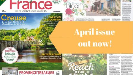 The April 2019 issue of Living France magazine is on sale now