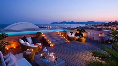 The terrace of the Suite Majestic overlooking the sea