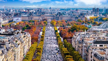 The Avenue of Champs Elysees in the 8th arrondissement (c) Augustin Lazaroiu / Getty Images