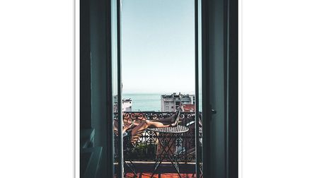 At The Balcony Cannes French Photography Wall Art, from 5, Abstract House