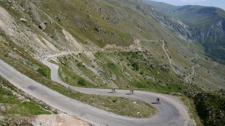 Cycling a mountain road in the French Alps (c) robminnes / Getty Images