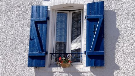 Those trademark blue shutters. Pic: S Keeze