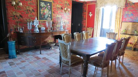 The dining room at Chateau de Lalande