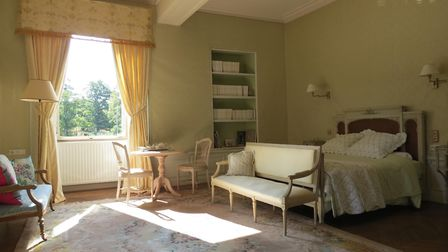 Chambre Bonne Maman is in the original 15th-century wing of the chateau