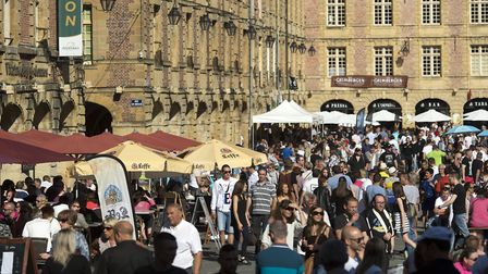 Food and drink lovers converge on Charleville Mezieres. Pic: David Truillard