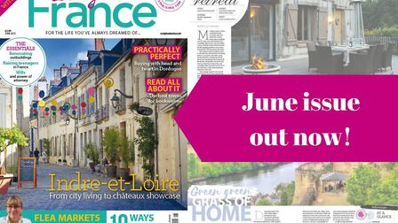 The June 2019 issue of Living France magazine is on sale now