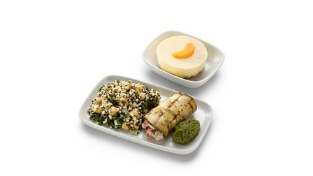 Standard Premier passengers will also have exciting vegetarian dishes