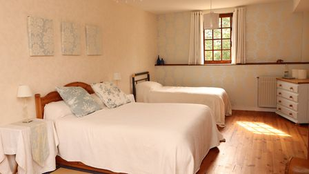 One of the bedrooms at Le Moulin de St-Blaise