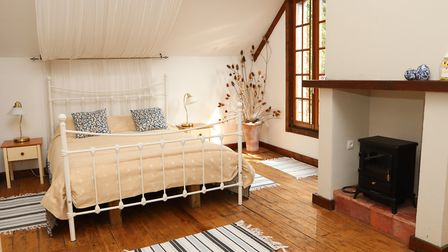 One of the renovated bedrooms at Le Moulin St-Blaise