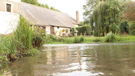 Most of the rooms overlook the mill pond