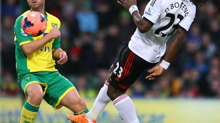 David Fox in action for Norwich City against Fulham on Saturday. Picture: Paul Chesterton / Focus Im
