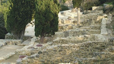 Remains of houses with sunken urns at Oppidum d'Ensérune, a town built in the sixth century BC. Pic: