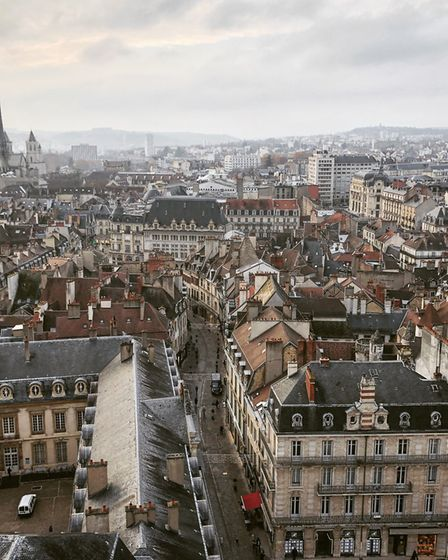 Dijon as seen from Tour Philippe le Bon. Pic: Adam Batterbee