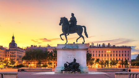 Statue of King Louis XIV in Bellecour square, Lyon (c) tichr/Getty Images