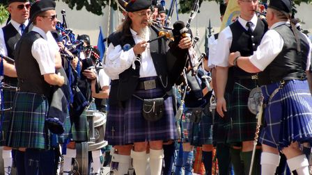 Bagpipers are a staple of the streets during the special festival in Aubigny. Pic: Cekispass/Flickr