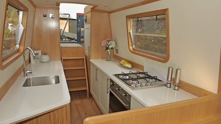 The galley sets the whole tone of the boat (photo: Andy R Annable)