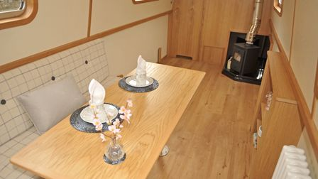 The table can be stored under the gunwale (photo: Andy R Annable)