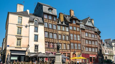 Traditional half-timbered houses in the old town of Rennes (c) Leonid Andronov/Getty Images