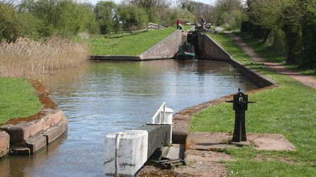 Hanbury Locks on the Droitwich Junction Canal (photo: Martin Ludgate)