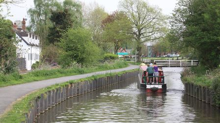 A series of swingbridges span the Droitwich Barge Canal as it passes through Vines Park (photo: Mart