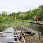 Looking north from Langley Mill along the short length rebuilt by ECPDA towards where the new stairc