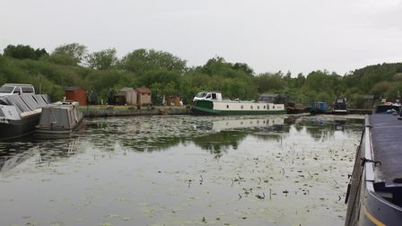 The current limit of navigation at the north end of Langley Mill basin (photo: Martin Ludgate)