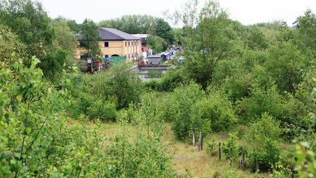 Looking back along the planned new canal route (photo: Martin Ludgate)
