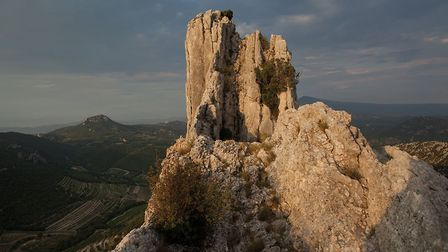 The Dentelles de Montmirail are a small chain of mountains in Provence whose soft rock has been erod