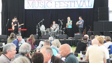 Music all weekend in the entertainment marquee (photo: Martin Ludgate)