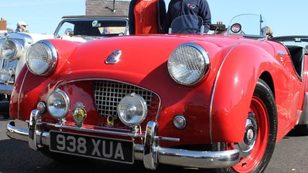 1955 Triumph TR2 on show at the North Norfolk Classic Vehicle Club's annual St George's Day run.