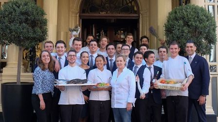The Helene Darroze at The Connaught team outside the London restaurant