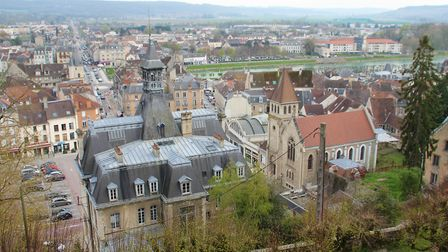 Views from Chateau-Thierry's medieval castle. Pic: Hans Westbeek
