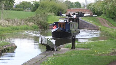 You don't get an imposing view up Tardebigge Locks, but they do go on for a long way (photo: Derek P
