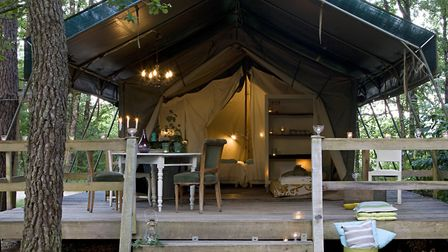 One of the luxury tents at La Parenthese