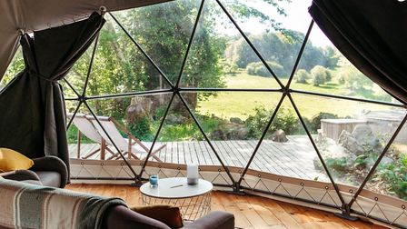 The cool geodomes of Le Monteil Revolution. Pic: Marine Brusson