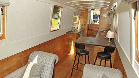 Ladder steps lead down to the spacious galley (photo: Andy R Annable)