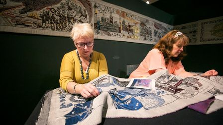 A team of talented seamstresses worked on the tapestry for months. Pic: Ulster Museum