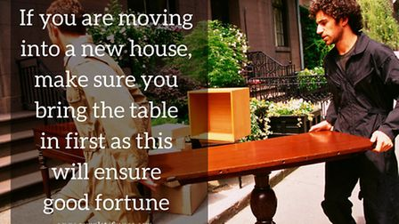 Moving into a new house superstition © Creatas / Thinkstockphotos
